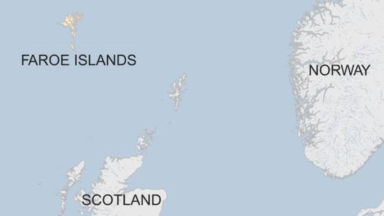 Quần đảo Faroe nằm giữa Na Uy, Iceland và Scotland. Ảnh: BBC