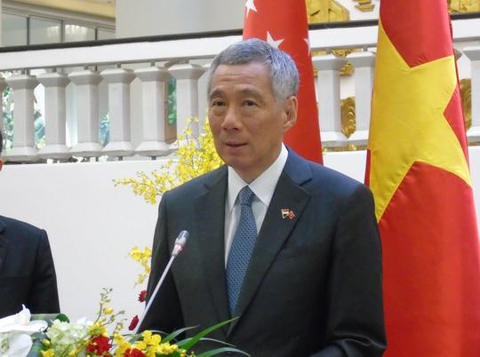 Thủ tướng Lý Hiển Long phát biểu