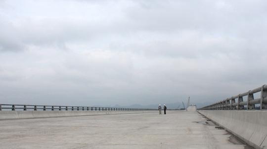 Khi hoàn thành, đây là cây cầu vượt biển dài nhất Việt Nam, sử dụng công nghệ tiên tiến, hiện đại