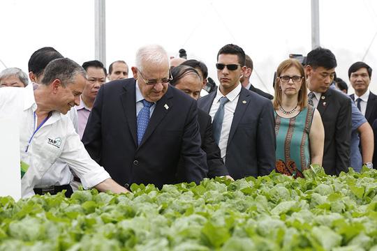 Tổng thống Israel và Phu nhân thăm khu Nhà kính VinEco Tam Đảo