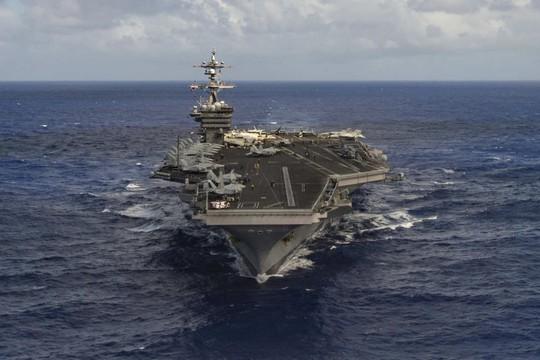 Nhóm tàu tác chiến của hải quân Mỹ, USS Carl Vinson, đang tiến về bán đảo Triều Tiên. Ảnh: ABC