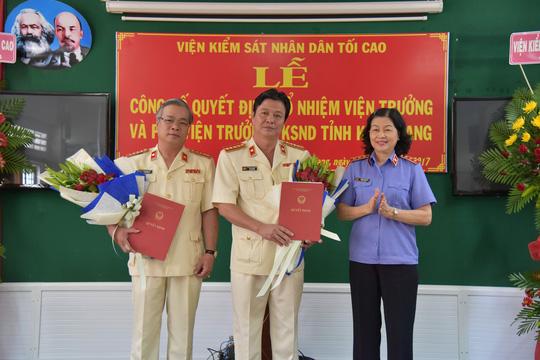 VKSND tỉnh Kiên Giang có 3 lãnh đạo mới - Ảnh 2.