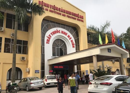 Bệnh viện Sản - Nhi Nghệ An, nơi xảy ra vụ việc
