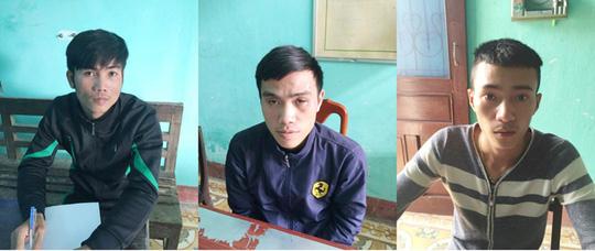 Các đối tượng Long, Phong, Sang trong vụ án.