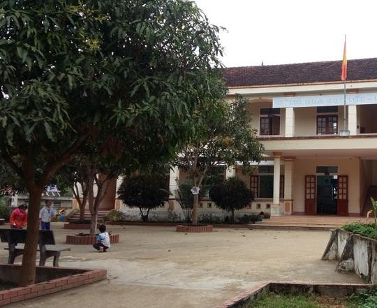 Trường tiểu học Diên Lãm, nơi xảy ra vụ việc