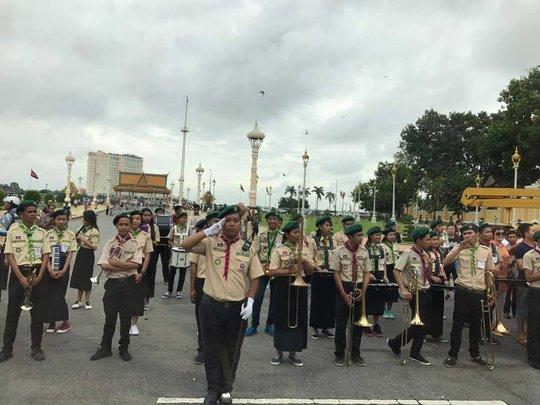 Trang trọng lễ đón Tổng Bí thư tại Hoàng cung Campuchia - Ảnh 11.