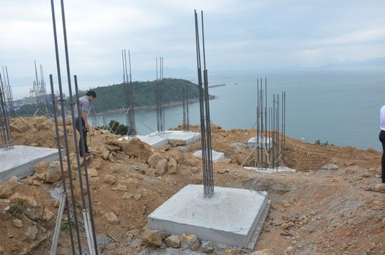 Xây dựng 40 móng biệt thự không phép tại Sơn Trà vừa bị phát hiện