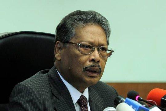 Tổng chưởng lý Tan Sri Mohamed Apandi Ali. Ảnh: The Star