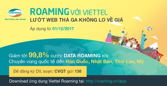 Công tác, du lịch Mỹ - Nhật - Thái - Hàn dùng data roaming Viettel với giá chỉ từ 400 đồng/MB - Ảnh 1.