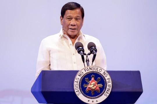 Tổng thống Duterte phát biểu khai mạc Hội nghị Cấp cao ASEAN hôm 29-4. Ảnh: Reuters