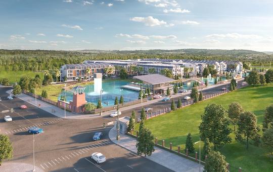 Nhờ ứng dụng công nghệ năng lương tái tạo không khói, không gian xanh mát với hệ thống công viên và hồ cảnh quan hơn 1 ha tại SIM City Premier Homes