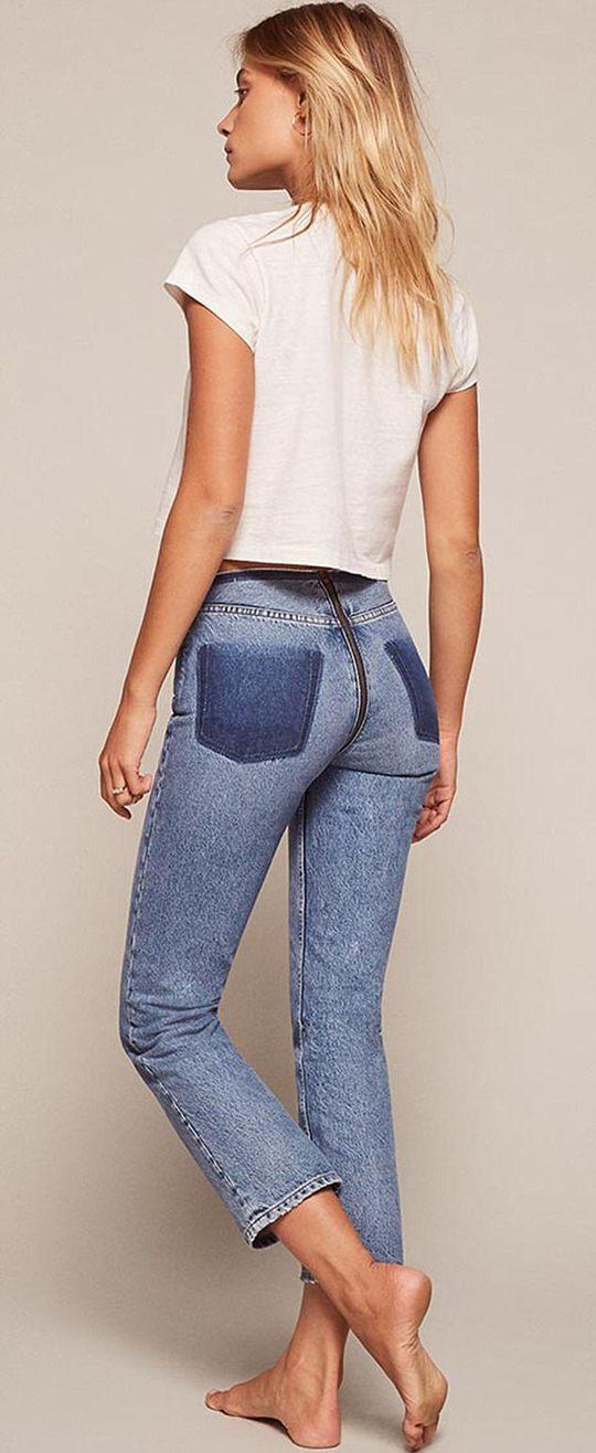 Mẫu quần jean độc đáo dành cho bạn nữ cá tính - Ảnh 3.