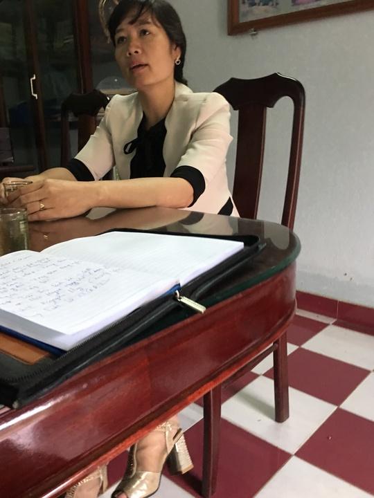 Bà Trần Thị Bích Lệ cho rằng đang rất cần chồng mình giữ chức vụ phó giám đốc