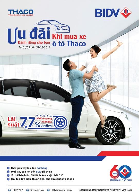 Mua xe ô tô tại Thaco, hưởng ngay lãi suất ưu đãi chỉ từ 7,7%/năm - Ảnh 1.