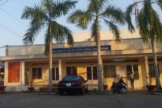 Ban Quản lý dự án thuộc Sở Giao thông vận tải tỉnh Long An, nơi để xảy ra nhiều sai phạm