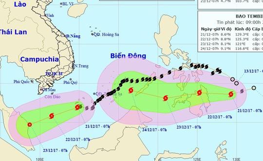 Bão số 15 chưa tan, lại xuất hiện bão mới gần Biển Đông - Ảnh 1.