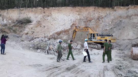 Hiện trường vụ khai thác khoáng sản trái phép ở Phú Quốc.