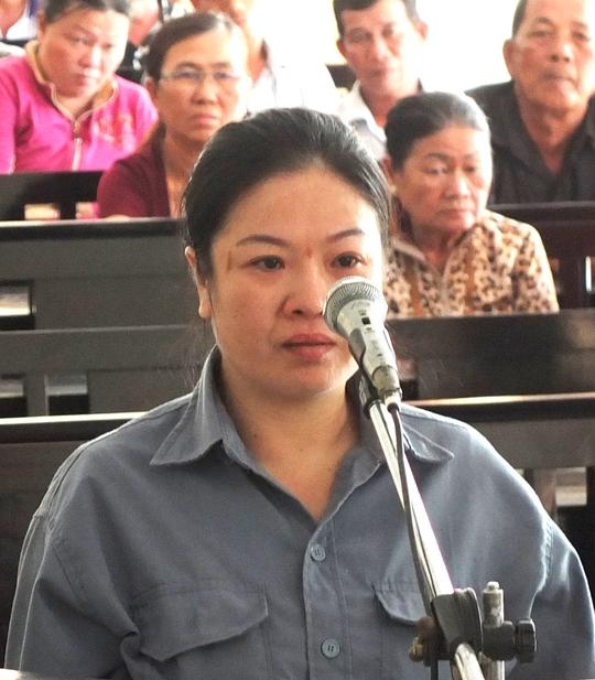 Bị cáo Đặng Thị Loan tại tòa