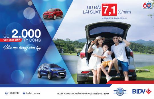 Sở hữu xe ô tô mơ ước với lãi suất ưu đãi từ BIDV - Ảnh 1.