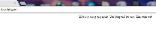 Website xào nấu thông tin khanhhoa.tv đã ngừng hoạt động - Ảnh 1.
