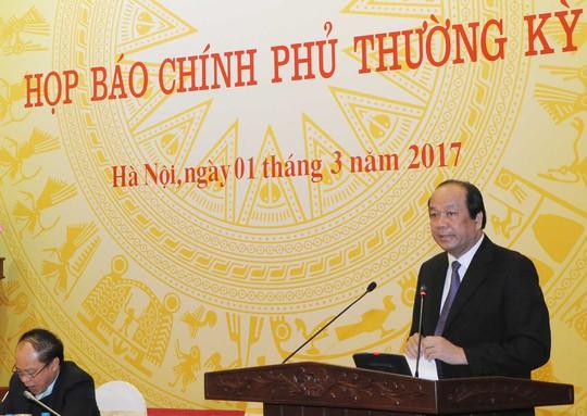 Bộ trưởng, Chủ nhiệm VPCP Mai Tiến Dũng cho biết sẽ kiểm tra tài sản bà Hồ Thị Kim Thoa, Thứ trưởng Bộ Công Thương một cách khẩn trưởng, chính xác và trung thực theo chỉ đạo của Tổng Bí thư - Ảnh: Thế Dũng