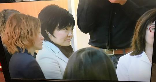 Bà Akie Abe một mình đến thăm trường Đại học Gallaudet hôm 10-2 mà không có bà Melania tháp tùng. Ảnh: Twitter