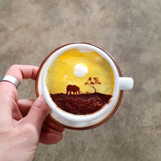 Những tách cà phê đẹp đến mức không ai nỡ uống - Ảnh 9.