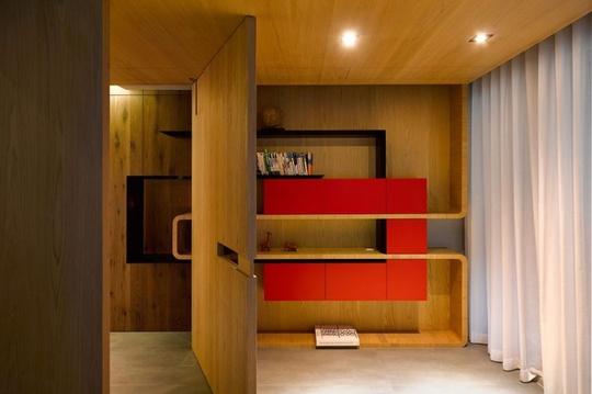 Căn hộ đẹp gần gũi và thanh lịch nhờ sử dụng chất liệu gỗ