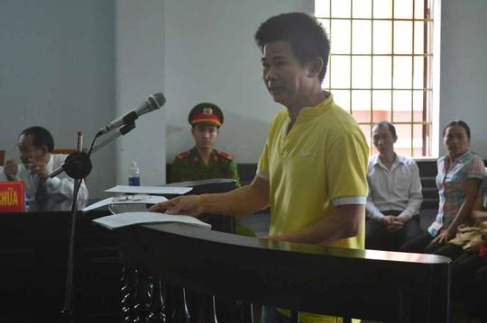 Bị cáo Trần Minh Lợi tại phiên tòa ngày 24-3