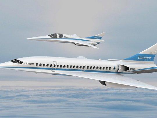 Phiên bản máy bay siêu thanh Boom của Công ty Boom Technology Ảnh: Boom Technology