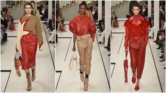 Những bộ trang phục trẻ trung, cá tính với gam màu đỏ của hãng thời trang Tods Ảnh: ELLE