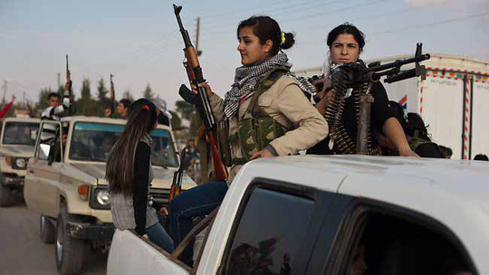 Dân quân người Kurd ở Syria Ảnh: GEO-POLITICA