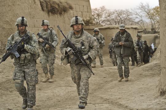 Lính Mỹ ở Afghanistan Ảnh: KHAAMA PRESS