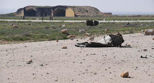 Căn cứ Shayrat ở Syria sau vụ không kích của Mỹ. Ảnh: SPUTNIK