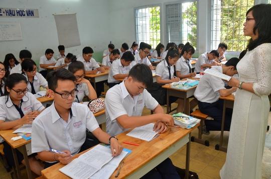 Một lớp học ở cấp phổ thông tại TP HCM Ảnh: Tấn Thạnh