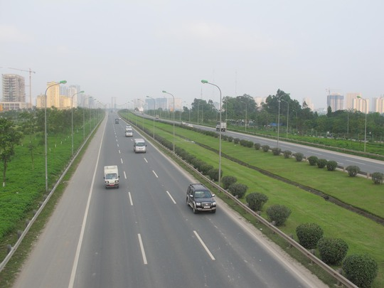 Gần 700 km cao tốc sẽ được xây dựng từ nay đến năm 2022. Trong ảnh: Tuyến cao tốc đại lộ Thăng Long