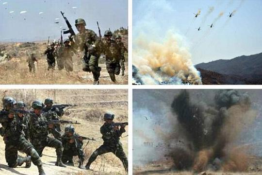 Triều Tiên vừa tiến hành tập trận giữa lúc căng thẳng leo thang ở khu vựcẢnh: DAILY MAIL
