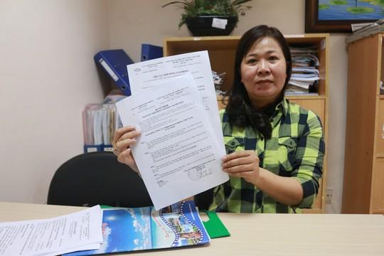 Chị Lê Thị Thu Trang phải nhờ cơ quan chức năng can thiệp bảo vệ quyền lợi