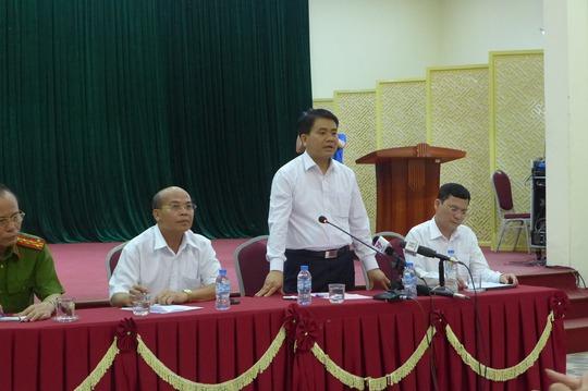 Chủ tịch UBND TP Hà Nội Nguyễn Đức Chung mong bà con xã Đồng Tâm tin tưởng và cam kết không có hành động nào