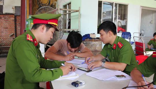 Cơ quan chức năng làm việc với đối tượng Mai Đình Toàn