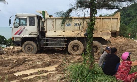 Một phần thửa đất của ông Dũng sang nhượng từ ông Giang đã được Công ty TNHH Sản xuất giống thủy sản Trung Sơn san lấp để làm dự án.