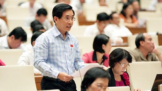 Ông Nguyễn Văn Cảnh tại một phiên thảo luận của Quốc hội