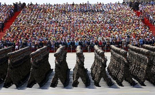 Quân đội Trung Quốc duyệt binh mừng kỷ niệm 70 năm kết thúc Thế chiến II. Ảnh: REUTERS