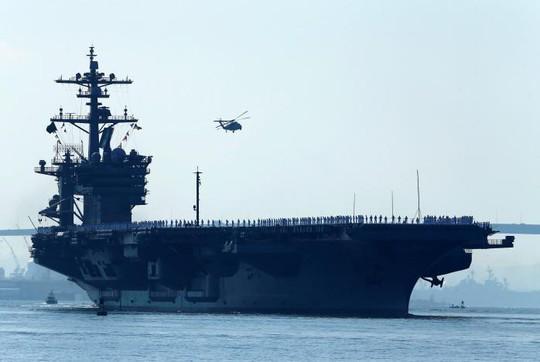 Tàu sân bay Carl Vinson. Ảnh: Reuters
