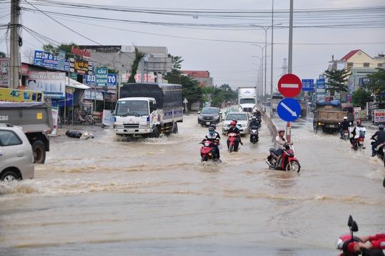 Mưa lớn, nhiều nơi ở Đồng Nai và Bà Rịa - Vũng Tàu ngập nặng - Ảnh 3.