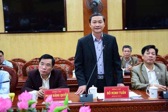 Phó Bí thư Tỉnh uỷ Thanh Hoá Đỗ Minh Tuấn cho biết ngày 30-3 sẽ có kết luận thanh tra vụ thăng tiến thần tốc của bà Trần Vũ Quỳnh Anh - Ảnh: Thu Dũng