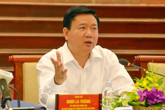 Bí thư Đinh La Thăng cho biết TP sẽ tạo điều kiện tốt nhất cho DN hoạt động. Ảnh: Tấn Thạnh
