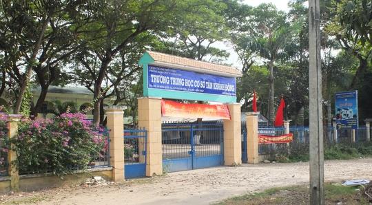 Trưởng THCS Tân Khánh Đông- nơi thầy Tới làm hiệu trưởng