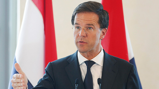 Thủ tướng Hà Lan Mark Rutte. Ảnh: Reuters