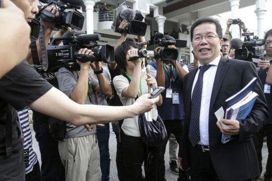 Luật sư của nữ nghi phạm Indonesia. Ảnh: Malay Mail Online